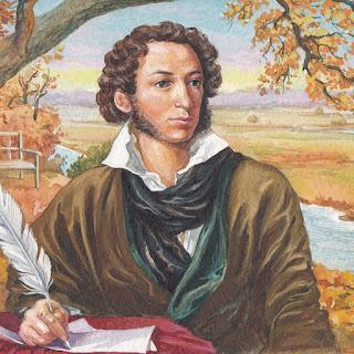 картина поэта Пушкина сочиняющего стихи