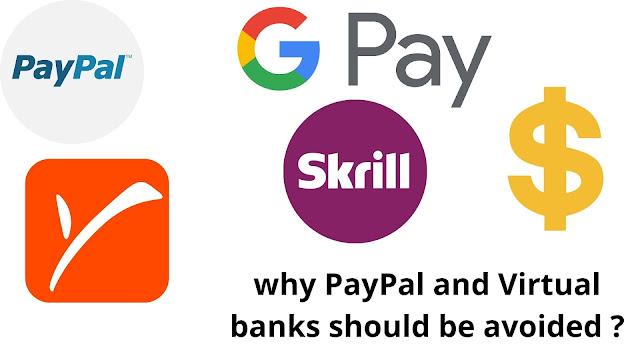 PayPal and Virtual banks