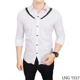 Stretch Shirt For Men, Putih, Stretch, M-L