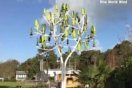 Turbin Angin di rancang seperti pohon alami untuk menghasilkan listrik