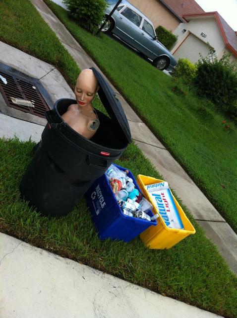 I guess my neighbor finally dumped his girlfriend
