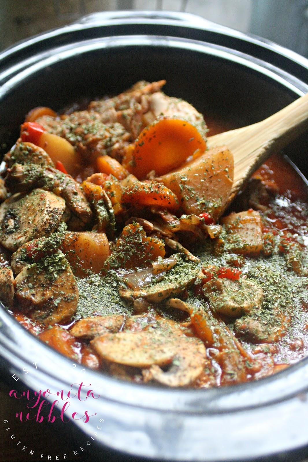 Anyonita Nibbles Gluten Free Recipes Gluten Free Slow Cooker Chicken Cacciatore