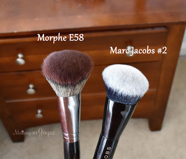 Morphe E58 Angled Buffer Powder Contour Brush Review vs Marc Jacobs No.2 Dupe