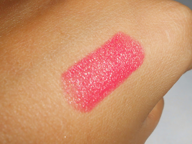 Swatch of Maybelline Shocking Coral Lipstick