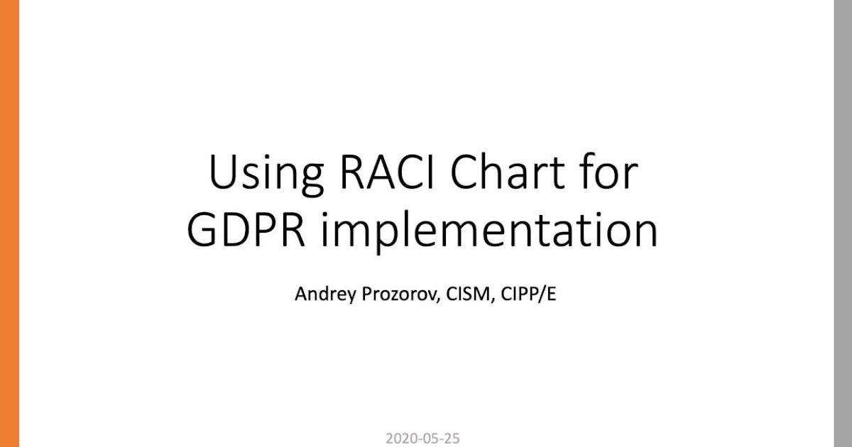 GDPR RACI Chart