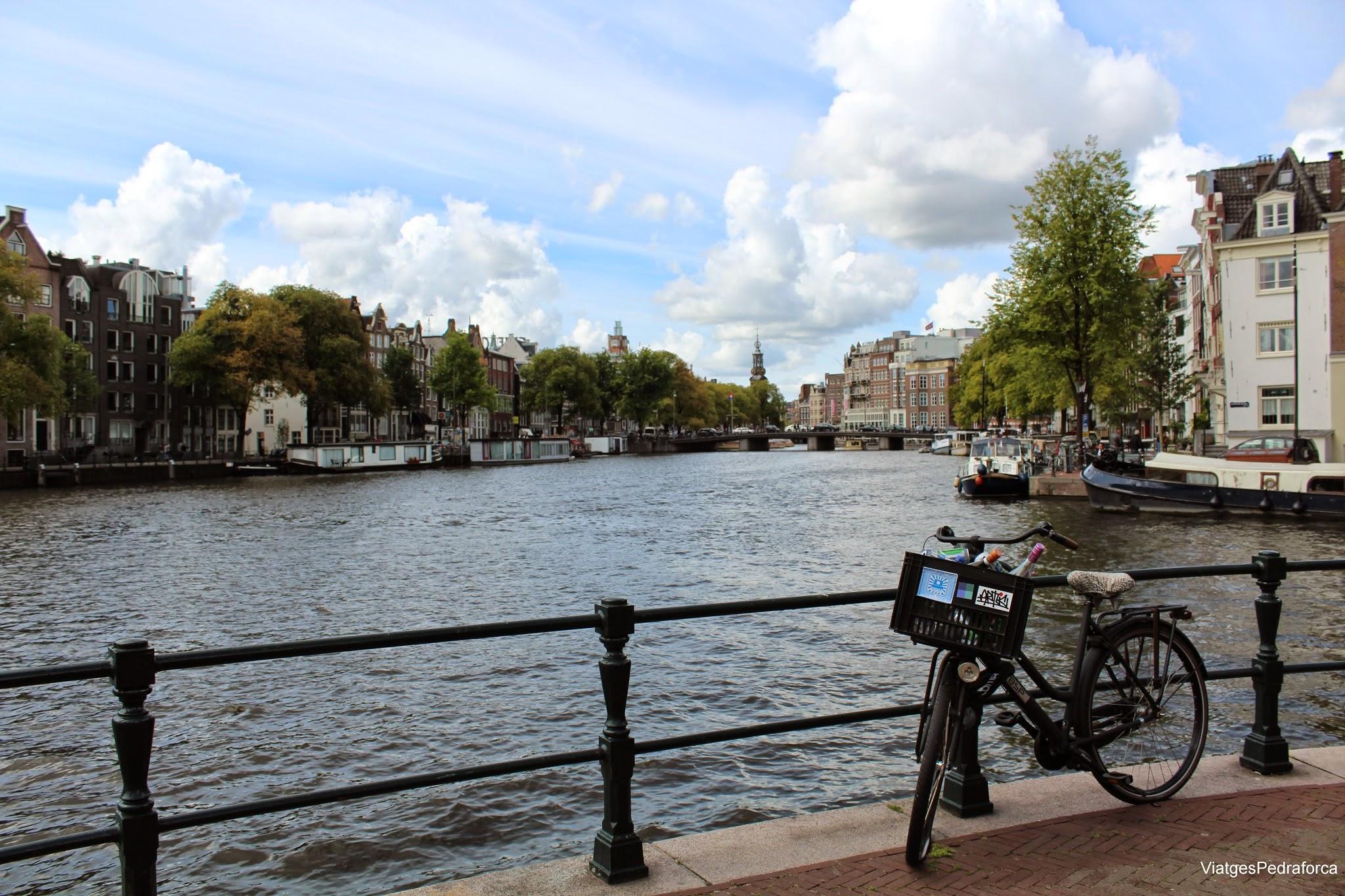 Amsterdam bicicleta canal Holanda Països Baixos