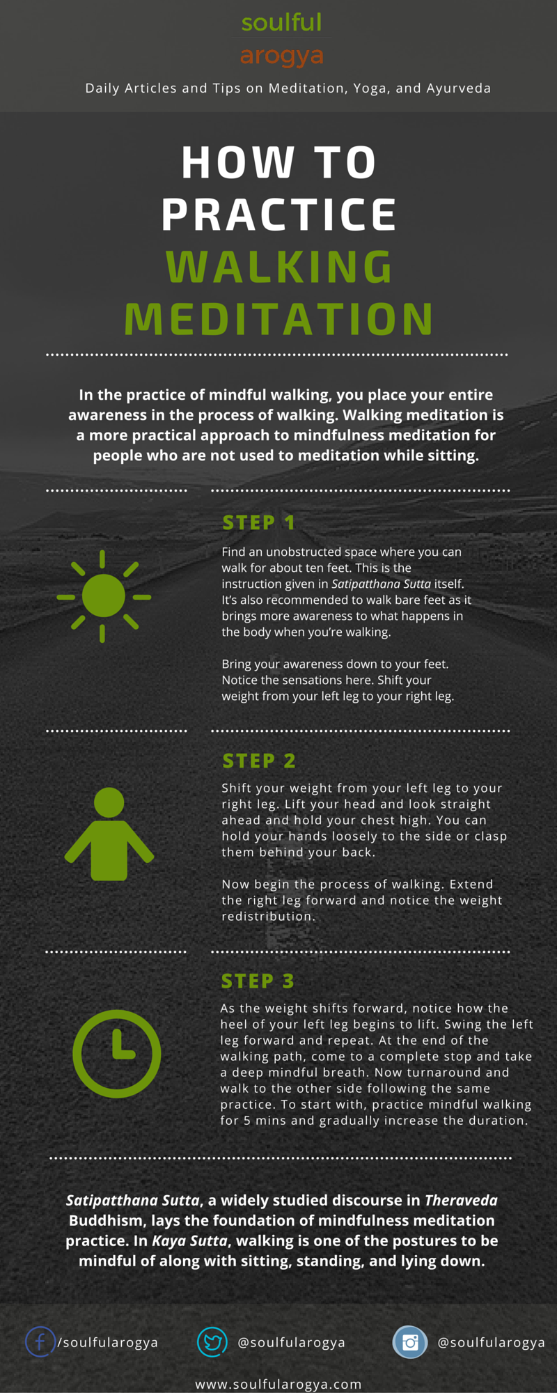 How to Practice Walking Meditation #infographic