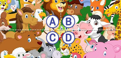 Where did all these animals come from? Can you find the unicorn among them?