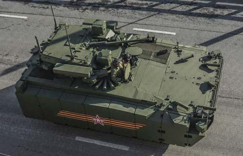Боевая машина пехоты Б-11 (Объект 695) на платформе «Курганец-25» - вид сверху