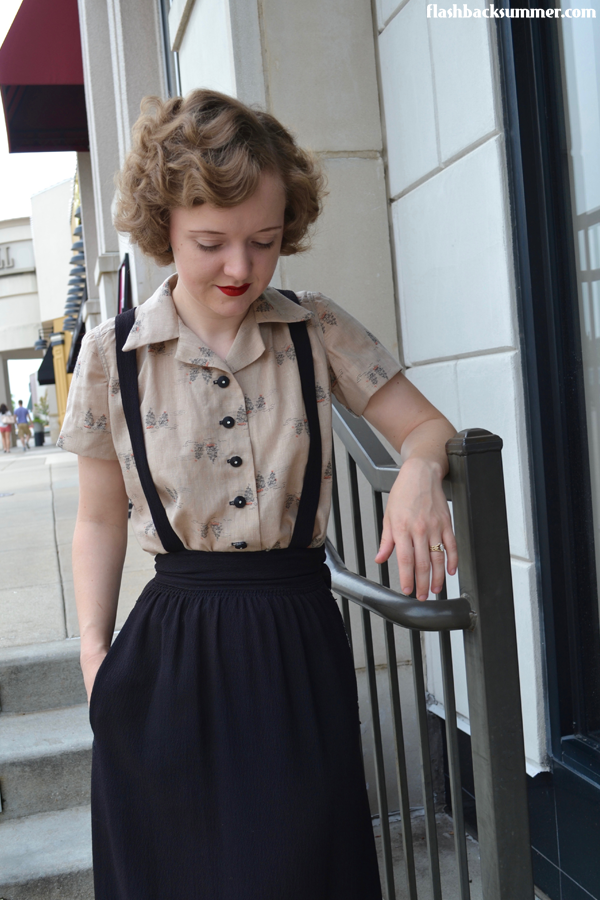Flashback Summer: 1940s Pinafore Skirt and blouse