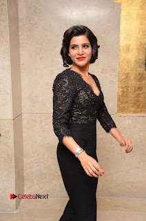 Actress Samantha Pictures in Black Dress at A Aa Success Meet  0079