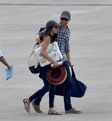 Photos Of Prince Harry & Meghan Markle As They Head To African Safari To Celebrate Her 36th birthday