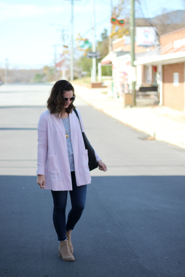 style on a budget, north carolina blogger, mom style, velour cardigan