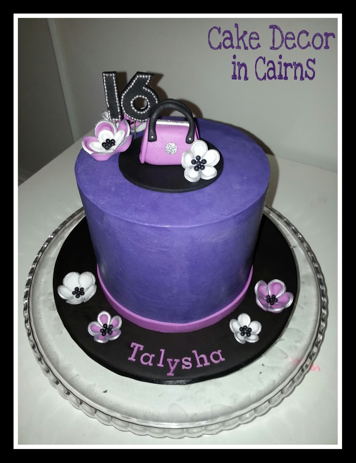 Coloured Ganache Recipe. How to Color ganache instructions. Purple Ganache Cake Cake Decor in Cairns.