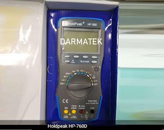 Darmatek Jual HoldPeak HP-760D Digital Multimeter AC/DC Praktis, Aman dan Nyaman dipakai