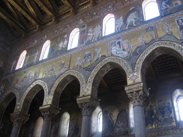 Mosaicos en el interior de la Catedral de Monreale