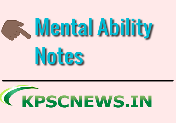 Mental Ability Notes for all competitive Exam