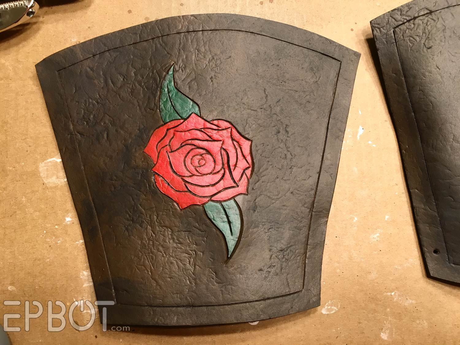 Epbot make these warrior belle leather bracers from for How to cut thick craft foam