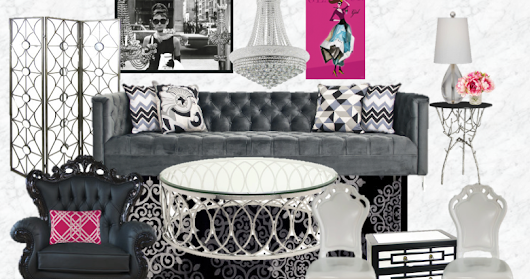 Decorating a Living Room in Hollywood Glamour Style