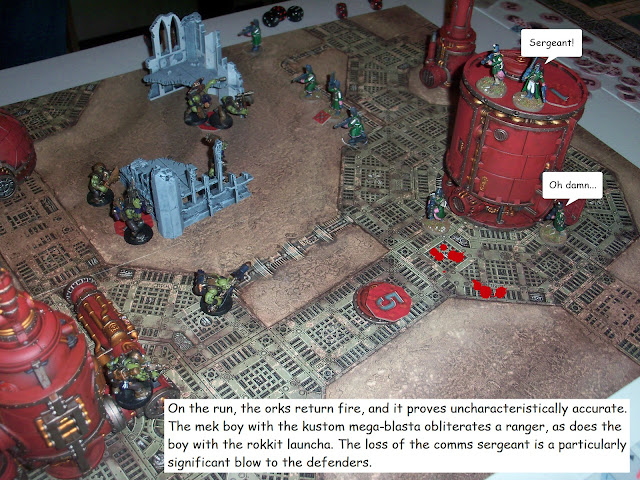 Warhammer 40k Kill Team Astra Militarum Ork battle report
