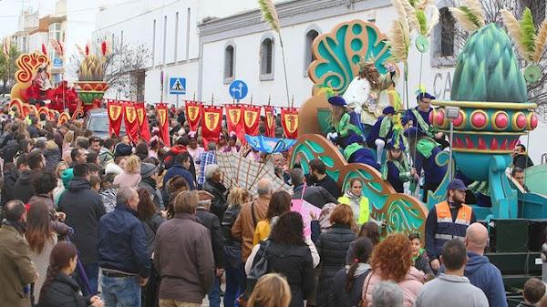 Horario e Itinerario de la Cabalgata de los Reyes Magos de Chiclana de la Frontera (Cádiz) 2019