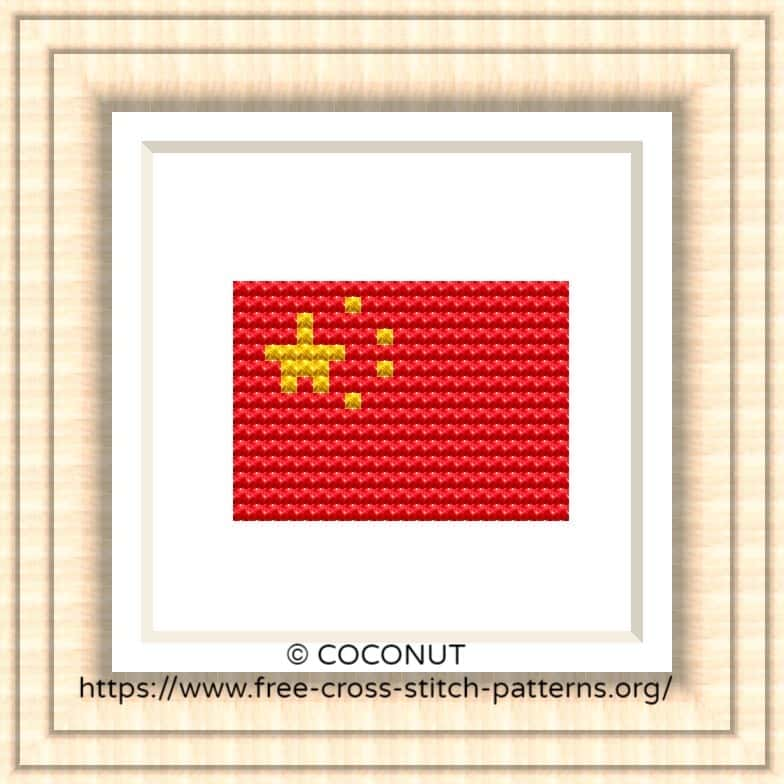 NATIONAL FLAG OF CHINA CROSS STITCH CHART