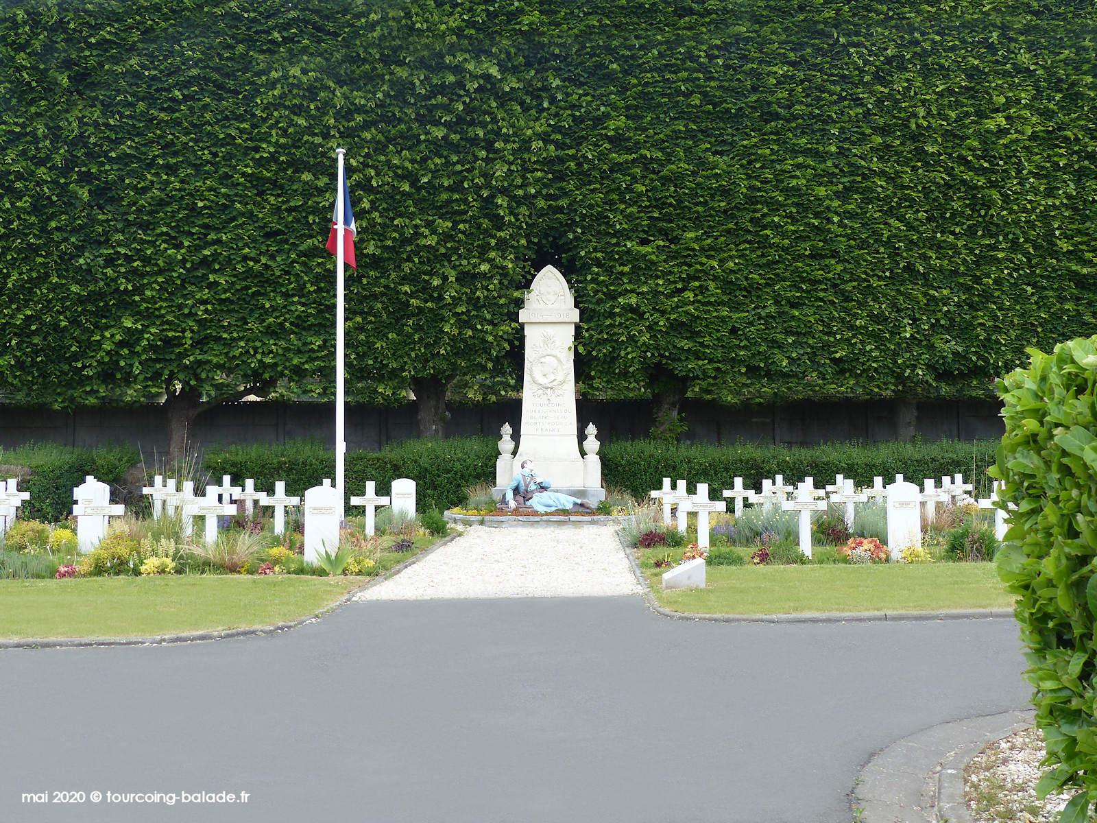 Cimetière du Blanc Seau Tourcoing - Carré militaire, 2020