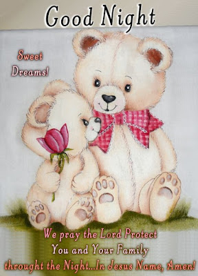 cute teddy bear good night images