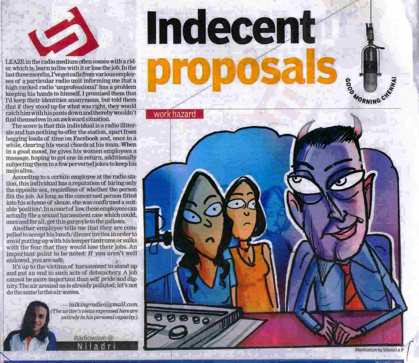 Niladri Bose: The Indian Express Chennai Indulge 03/12/2010