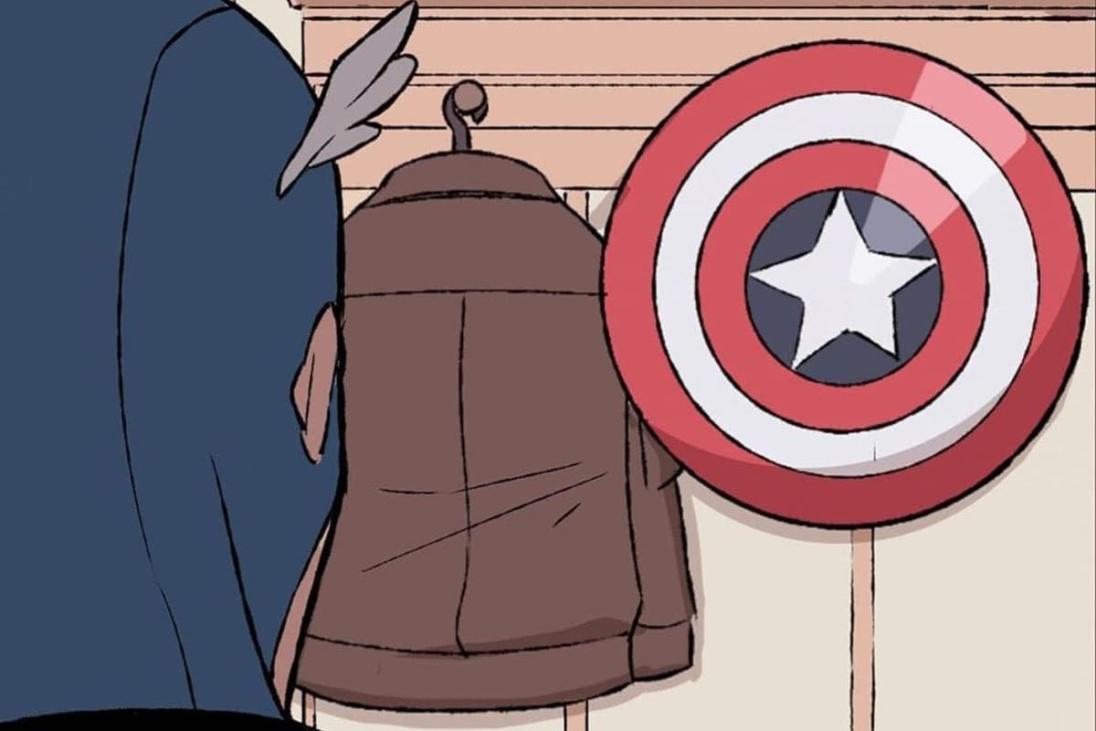 Captain America at home : ヒーロー活動が多忙につき、自宅ではズボラになってしまうキャプテン・アメリカの最後の頼りは、やっぱり、星条旗のシールド ! !