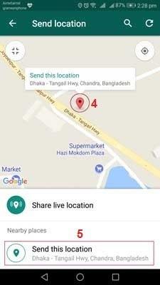 Cara Mengirim Fake Lokation di WhatsApp Pada iPhone dan Android 4