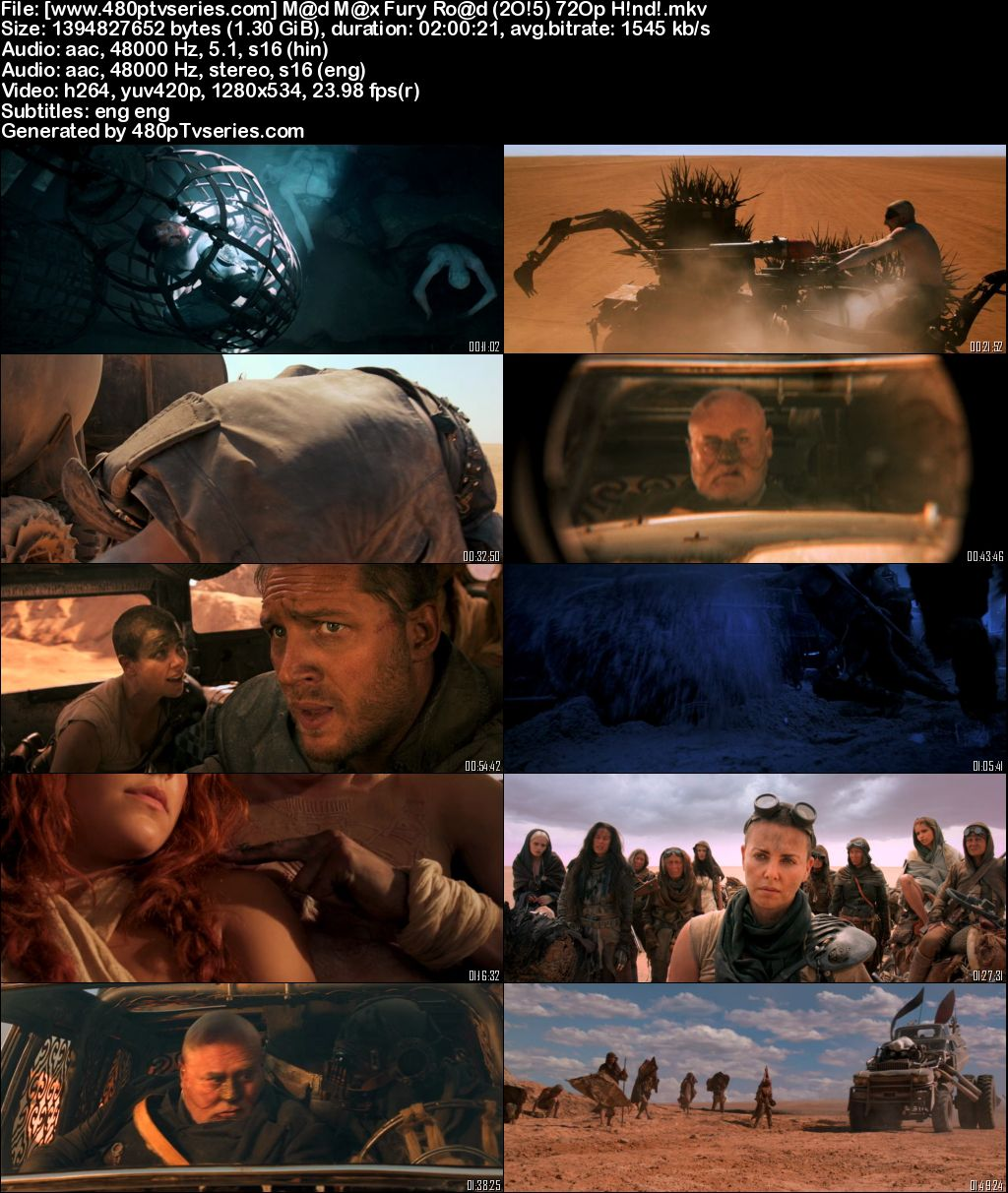 Download Mad Max Fury Road (2015) Full Hindi Dual Audio Movie Download 720p Bluray Free Watch Online Full Movie Download Worldfree4u 9xmovies