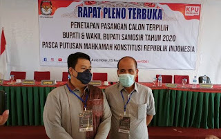 Rapat Pleno, KPU Tetapkan Vandiko Timotius Gultom-Martua Sitanggang Bupati dan Wakil Bupati Samosir