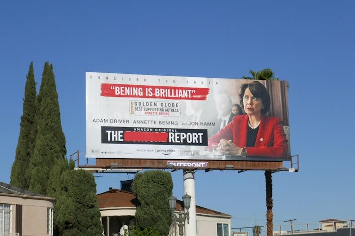 Report Annette Bening Golden Globe nominee billboard