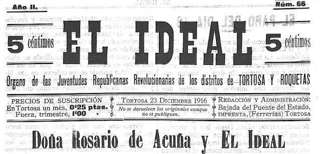 Cabecera de El Ideal, editado en Tortosa