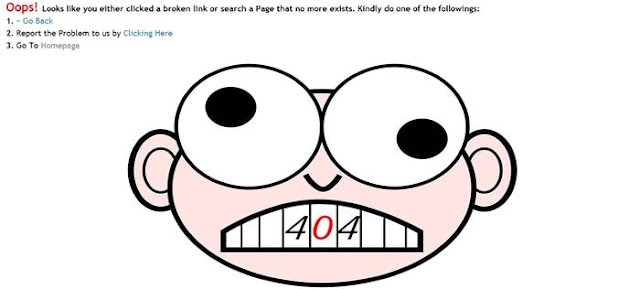 Customized 404 Error Page For Blogger