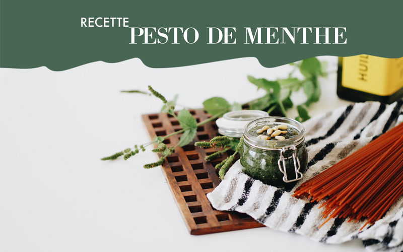 recette pesto menthe vegan facile souchka blog