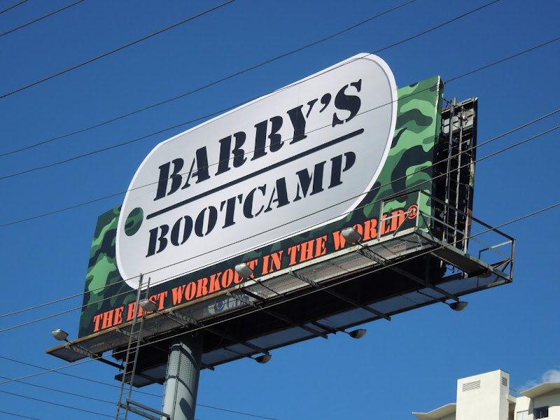 Barry's Bootcamp billboard