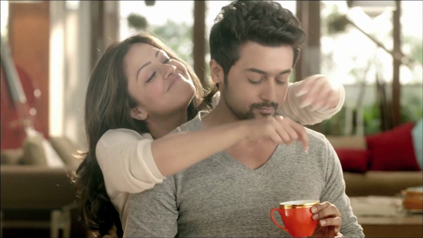 Suriya Movie Stills Photos Wallpapers: Actor Surya And Jyothika Coffee Add Images In HD