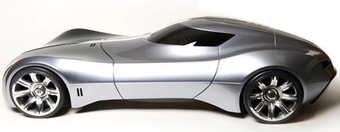 2025 Bugatti Aerolithe Concept Drive Fire