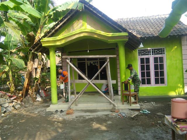 Rumah Kusnah Mulai Bersinar Berkat TMMD Kodim Klaten
