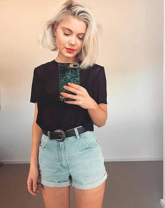 5 maneiras de usar short mom jeans