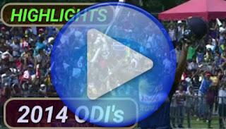 2014 odi cricket matches highlights online