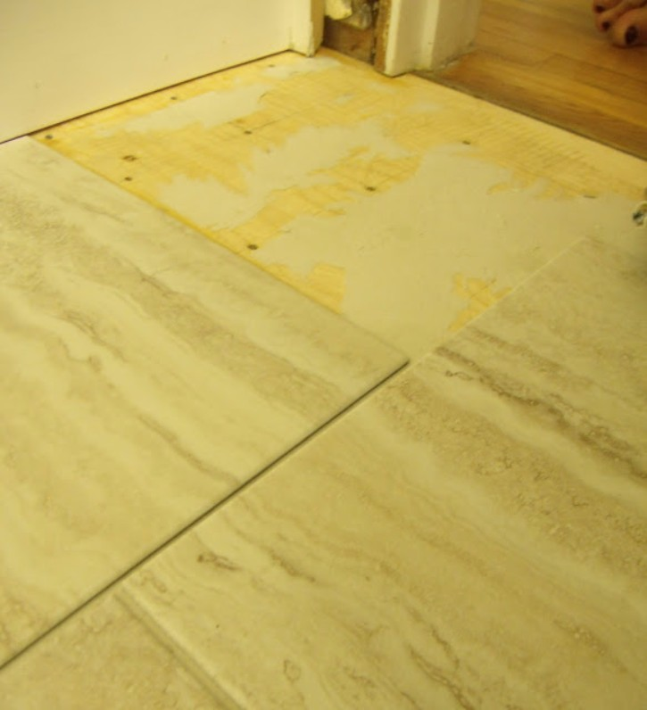 How To Install Peel And Stick Vinyl Tile That You Can Grout - Easiest floor tile to install
