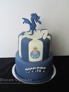 Bolo de aniversário Dragão fc porto bragança