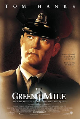 Movie poster for the 1999 Warner Bros. film The Green Mile, starring Tom Hanks, Michael Clarke Duncan, Sam Rockwell, Barry Pepper, David Morse, Michael Jeter, Doug Hutchison, and James Cromwell