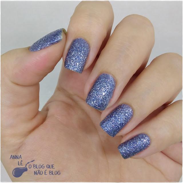 Estrelas no Céu Studio 35 Esmalte Nailpolish Liquid Sand Azul
