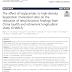 O efeito da proporção de triglicerídeos em relação ao colesterol de lipoproteína de alta densidade na redução da função renal.