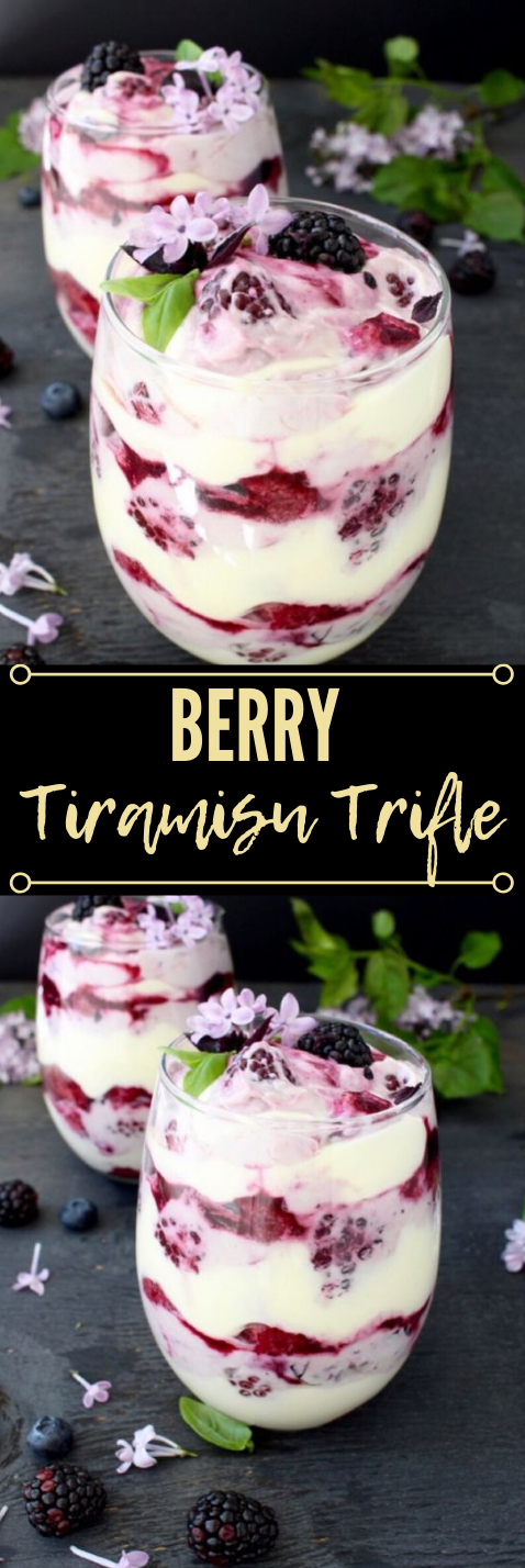 Berry Tiramisu Trifle Recipe #tiramisu #berry #recipes #healthydessert #cakes