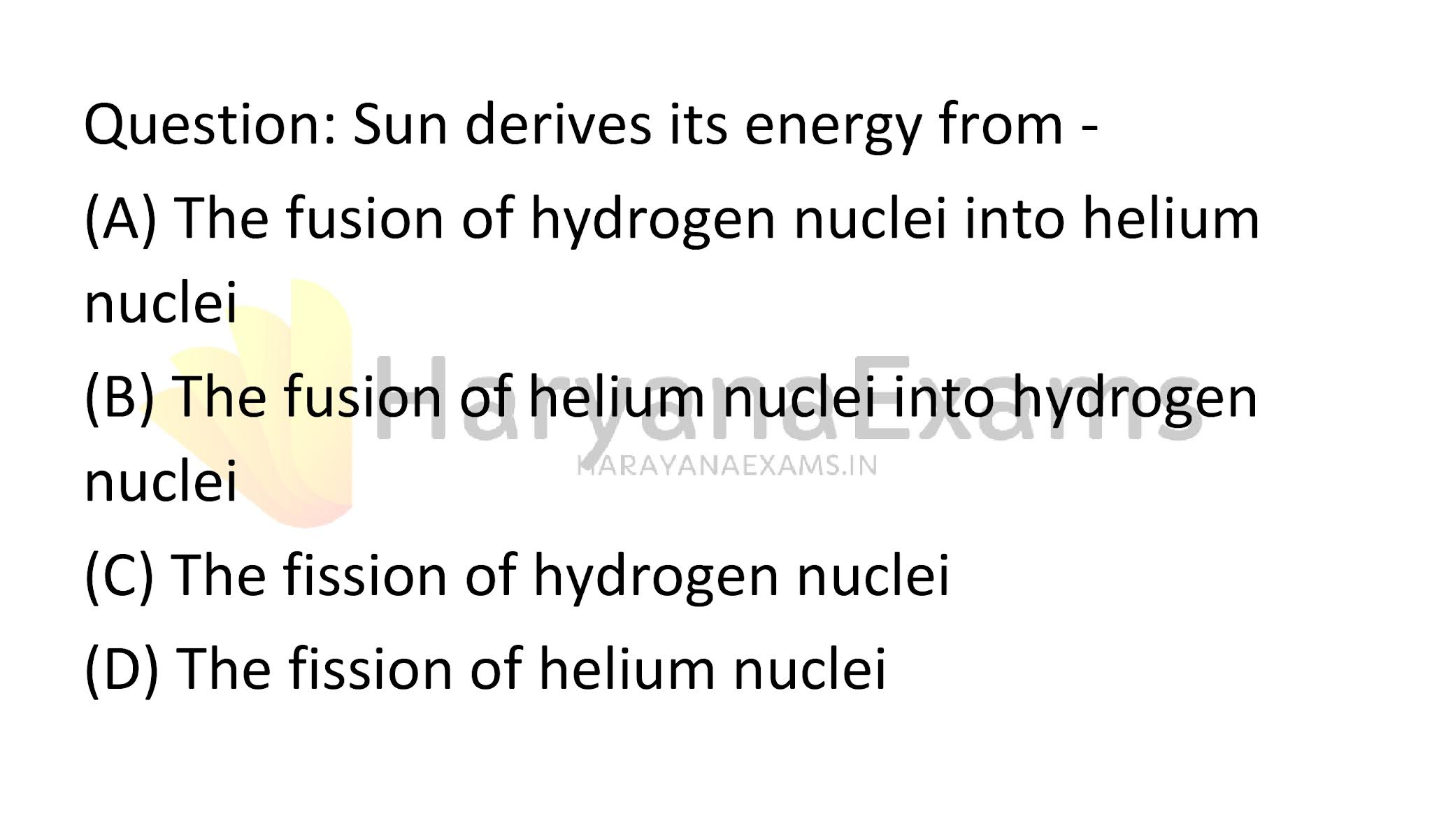 Sun derives its energy from -